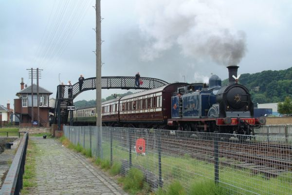CR locomotive 419, pulling an SRPS scheduled train at Bo'ness